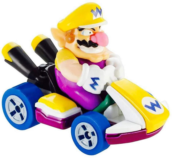 Mario Kart Wario Character Car Die Cast 1:64 Purple