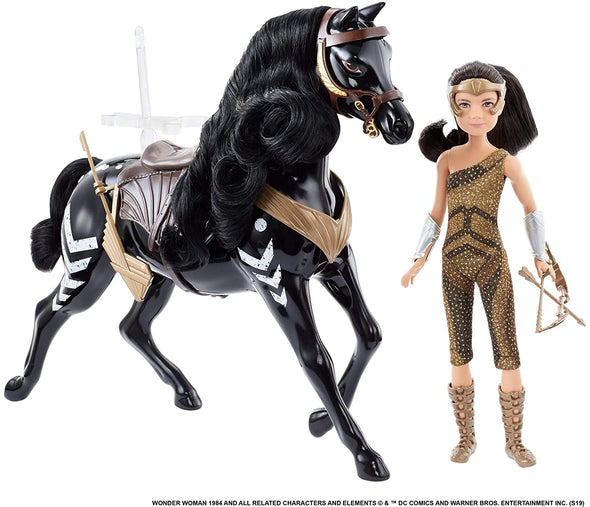 Wonder Woman 84 Young Diana Doll & Horse
