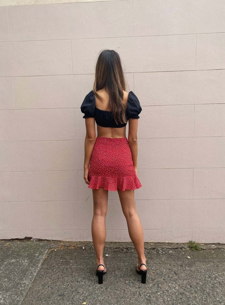 Blair Frill Skirt | Red