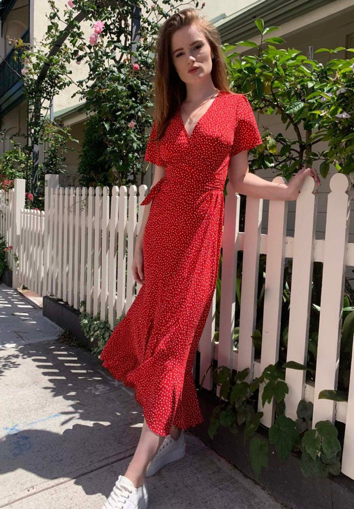 Blair Wrap Dress |  Red