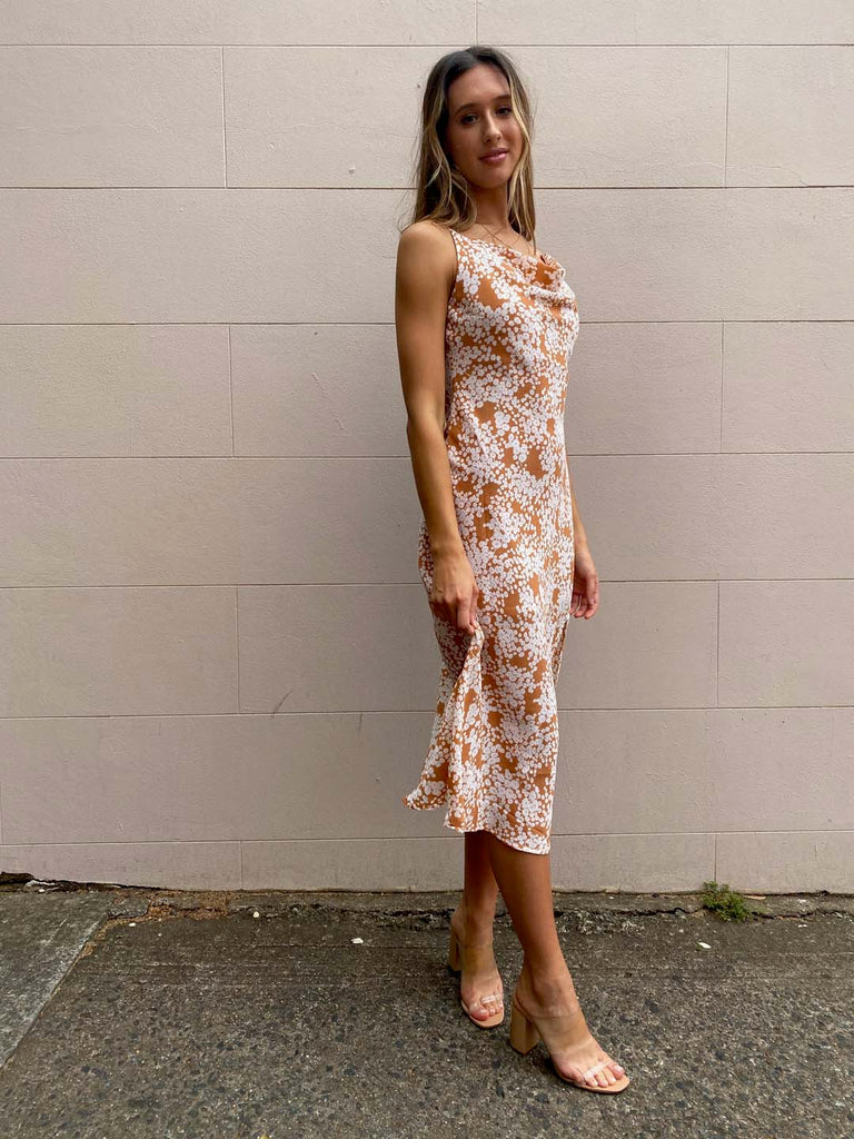 Coral Reef Slip Dress | Coral