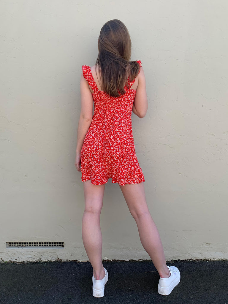 Hearts on Fire Dress // Red
