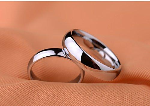BASIC Men's 8 mm Classic High Polished Comfort Fit Domed Tungsten Metal Ring Wedding Band