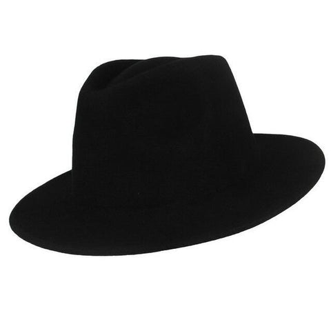 Classic Teardrop Dented Crown Wool Hat