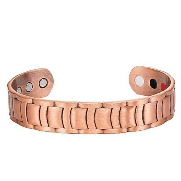 Pure Copper Men's Magnetic Therapy Bangle