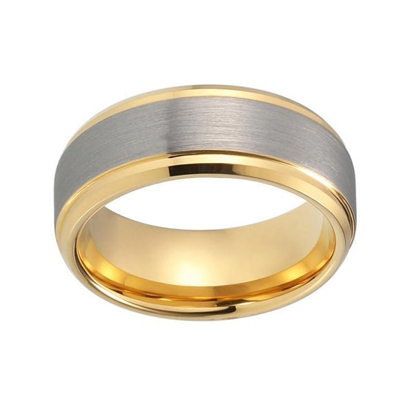 Matte Brushed Yellow Gold Plated Wedding Band