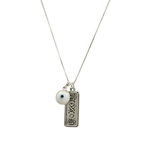 Sterling Silver Prosperity Necklace and Pendant with Snake Chain