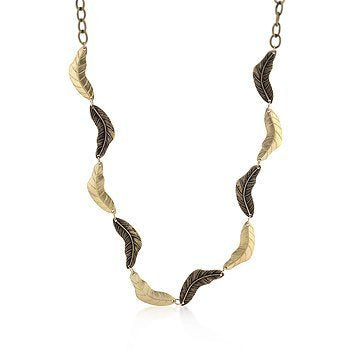 Vintage Leaf Two-tone Finish Necklace - InnovatoDesign