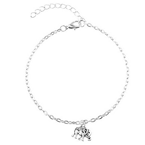 Women's Silver Color Elephant Beach Foot Chain Anklets Bracelet - InnovatoDesign
