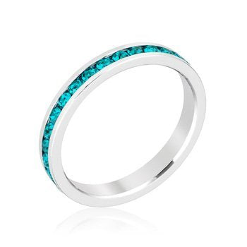 Stylish Stackables with Turquoise Crystal Ring - InnovatoDesign