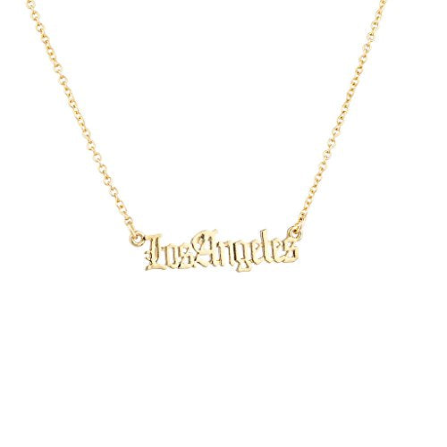 Los Angeles City 310 Area Code California Pendant Necklace. - InnovatoDesign
