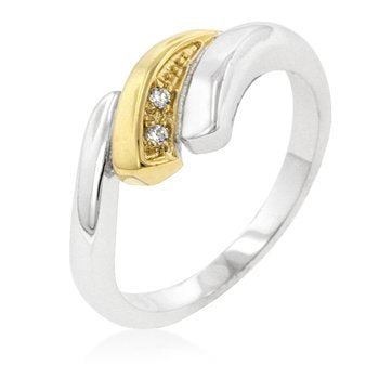Two-tone Swirl Ring - InnovatoDesign