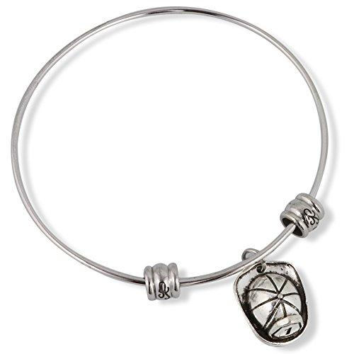 Fireman Helmet (with No 1 on front) Fancy Bangle