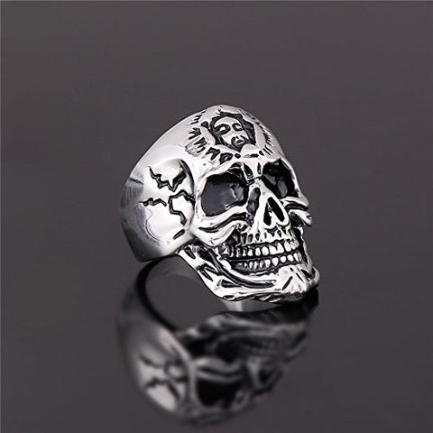 Stainless Steel Silver Sun Totem Amulet Ring