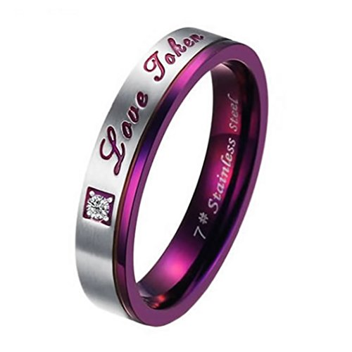 Men Women Stainless Steel Love Promise Ring Couples Wedding Bands - InnovatoDesign