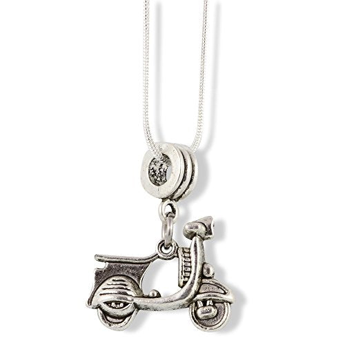 Vespa Scooter Bike Charm Snake Chain Necklace Jewelry - InnovatoDesign