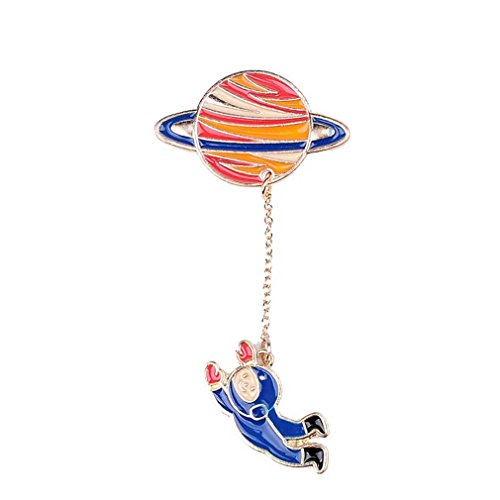 Novelty Cartoon Universe and Astronauts Brooch Pin Acrylic Enamel Pin Badge - InnovatoDesign