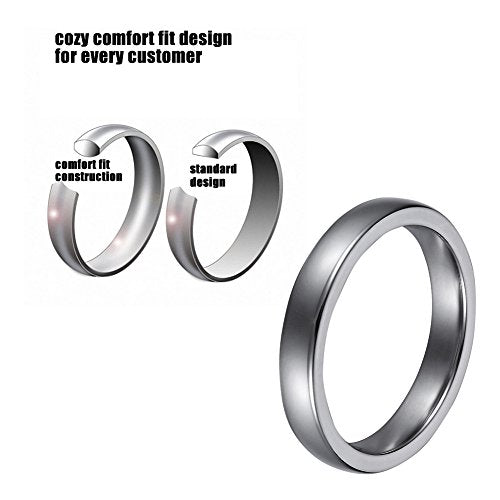 L-Ring 8MM Men's Tungsten Wedding Ring with Laser Pattern Lord of the Rings Thumb Rings, Size 7-14 - InnovatoDesign