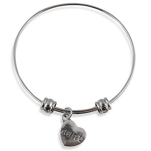 Aunt on a Heart Fancy Bangle