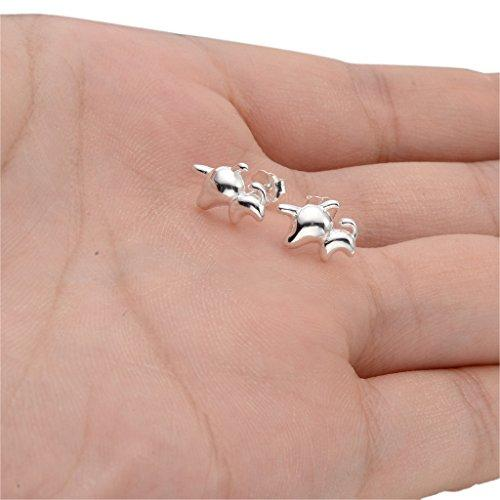 925 Sterling Silver Lovely Pet Puppy Animal Daily Stud Earrings