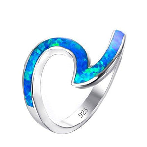 Sterling Silver 925 PRETTY LAB OPAL CLEAR CZ OVAL DESIGN PROMISE RINGS SIZE 4-12