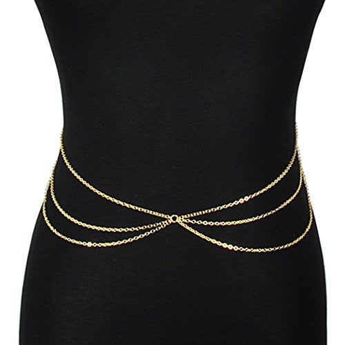 Hot Sexy Waist Belt Belly Unibody Body Chain Gold - InnovatoDesign