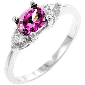 Oval Treble Cubic Zirconia Ring - InnovatoDesign