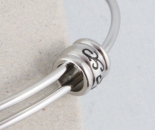 Ice Skates (Female with laces and middle support on blade) Fancy Charm Bangle - InnovatoDesign