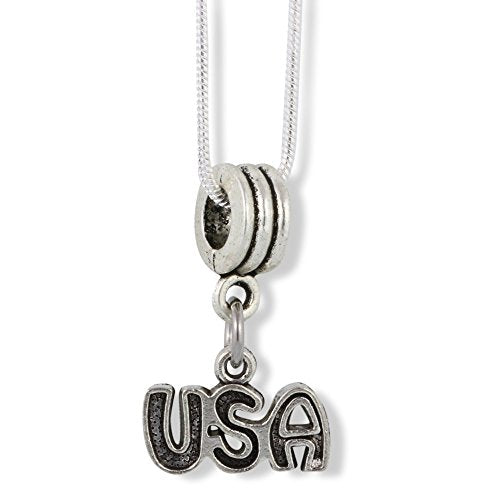 USA (just letters) Charm Snake Chain Necklace