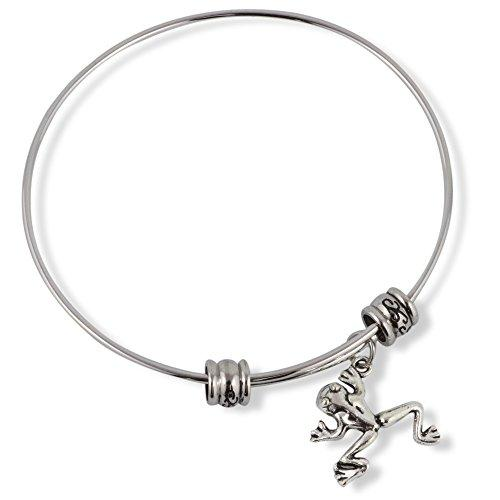 Frog (One back leg higher than the other) Fancy Charm Bangle