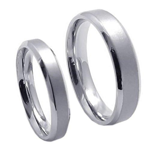 Classic Men Women Stainless Steel Love Promise Ring Couples Wedding Bands