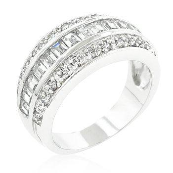 3-Row Cubic Zirconia Band