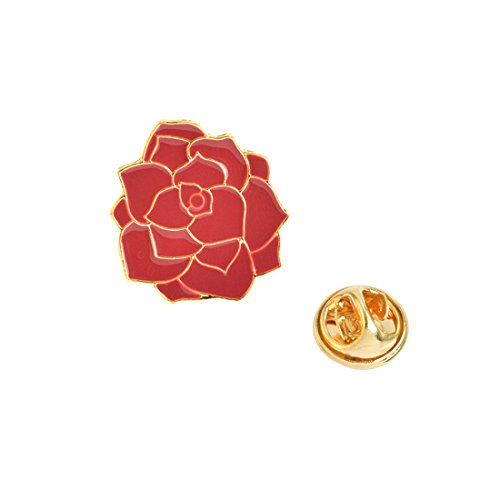 Novelty Cartoon Brooch Pin Big Red Flower Enamel Pin Badge - InnovatoDesign