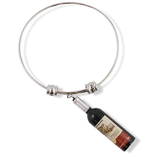 Wine Bottle Fancy Charm Bangle - InnovatoDesign