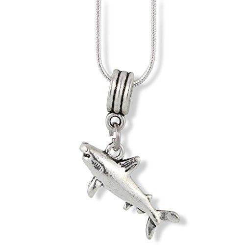 Shark Charm Snake Chain Necklace - InnovatoDesign
