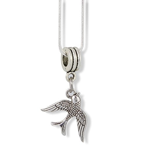 Swallow Bird Flying Charm Snake Chain Necklace - InnovatoDesign