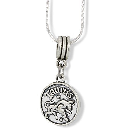 Taurus Charm Snake Chain Necklace - InnovatoDesign