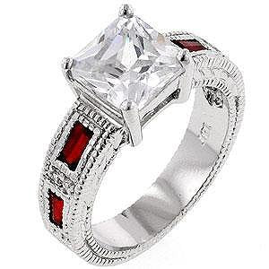 Prima Donna Ruby Red Cubic Zirconia Ring - InnovatoDesign