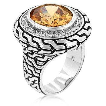 Champagne Textured Artisan Ring