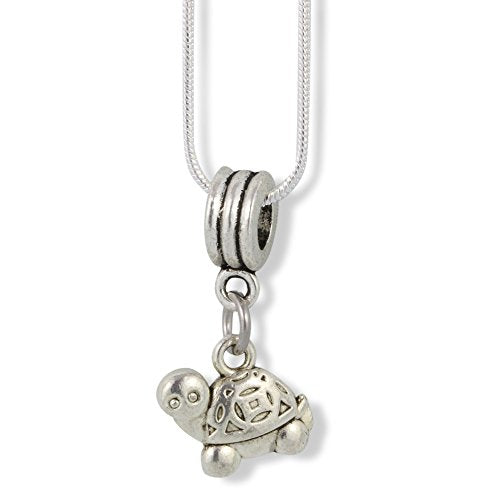 Turtle ( Cartoonish looking at you ) Charm Snake Chain Necklace - InnovatoDesign