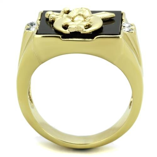 Black Onyx Shriners Men's Ring - InnovatoDesign