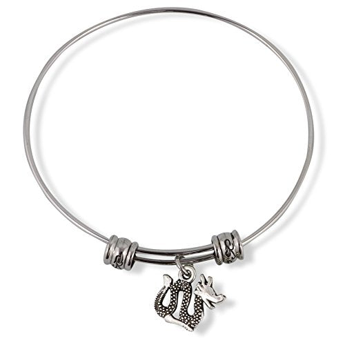 Sea Serpent or Lake Monster or Ogopogo Fancy Charm Bangle - InnovatoDesign