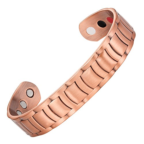 Men's Pure Copper Magnetic Therapy Ajustable Bracelet Bangle - InnovatoDesign