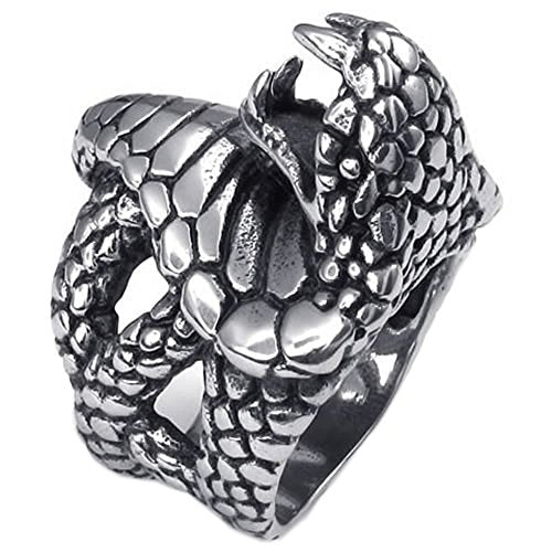 Vintage Stainless Steel Snake Gothic Biker Men Ring,Black - InnovatoDesign
