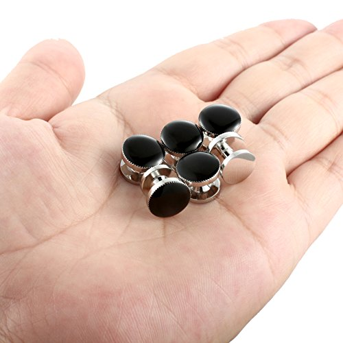 Men Cufflinks and Studs Set Tuxedo Shirts Black Business Wedding - InnovatoDesign