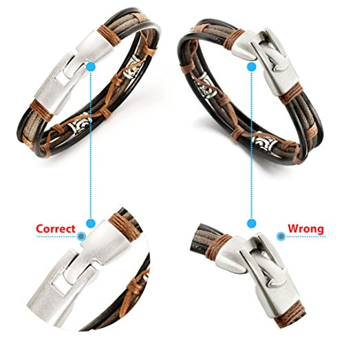 Jewelry Men Leather Bracelets Cool Rope Bracelet for Boys - InnovatoDesign