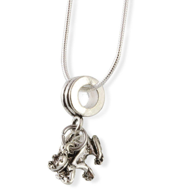 Frog Prince with Crown Snake Chain Necklace
