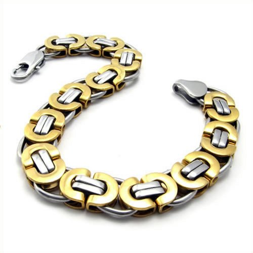 Jewelry Stainless Steel Men Bracelet, 8.6 Inches