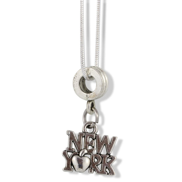 New York (with Apple) Charm Snake Chain Necklace - InnovatoDesign