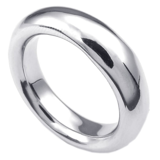 Men Stainless Steel Ring, Classic Polished Band